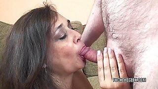 Sexy Busty Housewife Sucks Cock and Fucked - 6:06