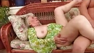 Horny Granny in stockings gets fucked - 13:26