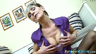 Bigtitted Granny gets solo work - 8:55