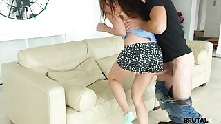 Teen sister masturbates her step bro on the floor - 8:59