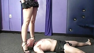 Domina smothering chastity slave - 5:00