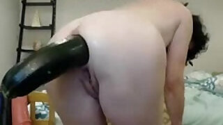 Extreme anal insertion on webcam - 6:00