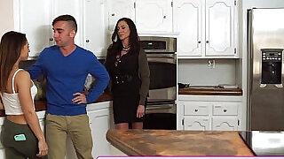 Mother fucks son and tiny latina girlfriend - 15:00