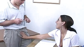 Teen slut shortens detention with a quality handjob - 18:00