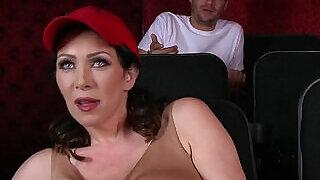 Dude fucks stepmom in the porn theater - 7:00