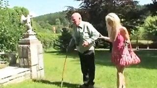 Fucking grandpa on a balcony - 9:00