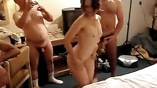 Husband records his wife Sylvia getting gangbanged - 10:00