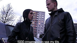 Freaky Czech couple is paid in cash for a threesome - 13:00