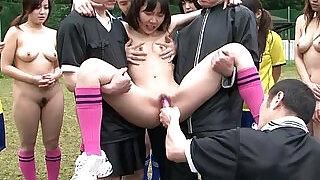 Asian Playing Football Naked - 8:00