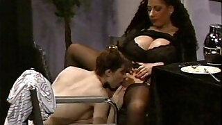 Busty Tiziana Redford in Black Lingerie lesbian scene - 12:00