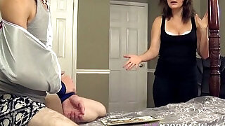 Mommy helps her stepson with a handjob - 22:00