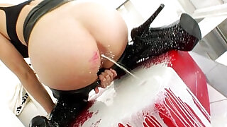 Solo squirting fetish babe fisting asshole - 6:00