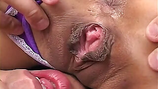 Horny MiLF heads into a hotel room to clean up and finds two guys ready to clean - 7:00