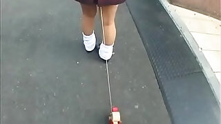 Bizarre JAV enema walk of shame for schoolgirl Subtitles - 5:00
