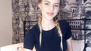 19 Year Old Teen Shows Her Perfect Tits Webcam - 19:00