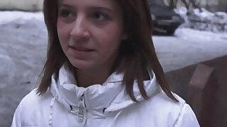 Petite brunette russian casting beauty - 10:00