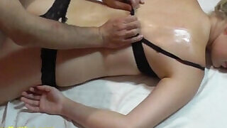 Sexy oil massage for shy casting girl - 13:00