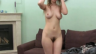 Casting HD Shy girl with hairy bush - 9:00