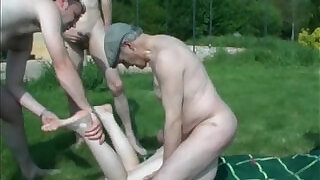 Outdoor gang bang lesson for horny - 20:00