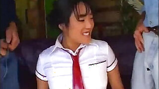 Asian schoolgirl Shai Lee gets a double penetrated - 17:00