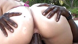 Briella Bounce gets rocked by big black dick - 7:00