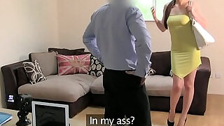 Analfucked casting babe jizzed on hole - 7:00
