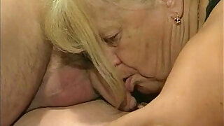 Two granny get fucked in foursome action - 6:00