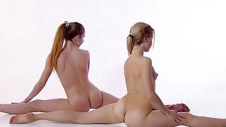 Shaved and hairy sisters Svetik and Rita - 7:00