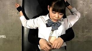 JAPANESE SCHOOL GIRL OILED TICKLED - 9:00