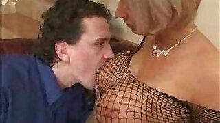MILF masturbates With Tits getting Fucked - 18:00