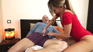 Russian Katrin Tequila banged in her pussy by horny grandpa - 5:00