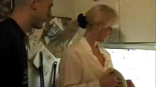 XXX Homemade video Hot mom takes son and his friendXXX - 21:00