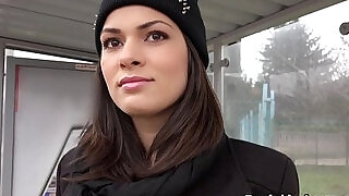 Hungarian beauty from public bangs - 7:00