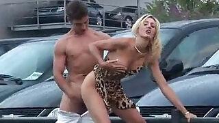 Porn on a public car parking - 12:00