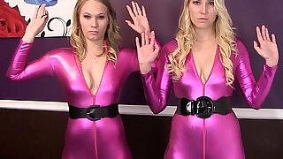 Bondage Struggle in Hot Catsuits - 12:00