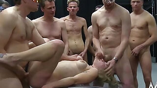 MMV FILMS German Gangbang in a cage - 13:00