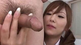 Miku Airi Asian schoolgirl blows a big dick - 12:00