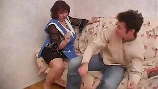 Plump Russian mom fucks friend - 20:00