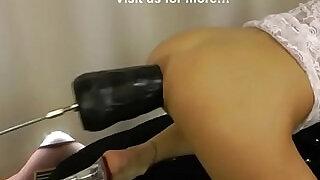 Huge black dildo machine in hotkinkyjo ass - 1:08