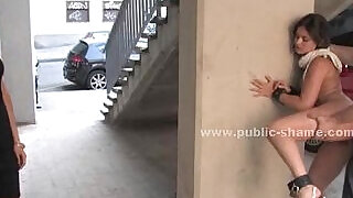 Blonde humiliated in public bondage sex on the streets and on bus in hard anal - 4:00