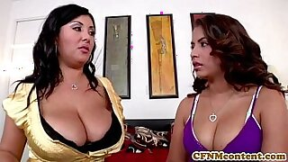 AWESOME Busty Cutie Lucy Crane CFNM Tops Momre Babes and His Own Ass - 8:07