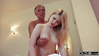 Mother Dagny rides and fucks grandpas cock - 10:18