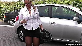 Chubby Blonde Nympho Spreads Legs - 6:42
