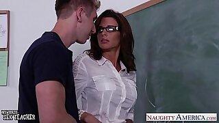 Nice looking teacher fucked in grading room - 8:51