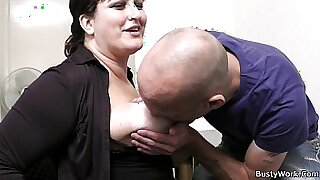 office secretary with big tits straponfucked - 6:55